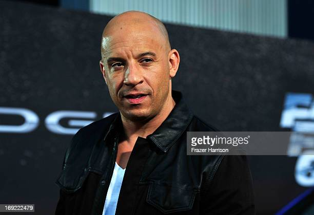 Actor Vin Diesel arrives at the Premiere Of Universal Pictures' Fast Furious 6 on May 21 2013 in Universal City California