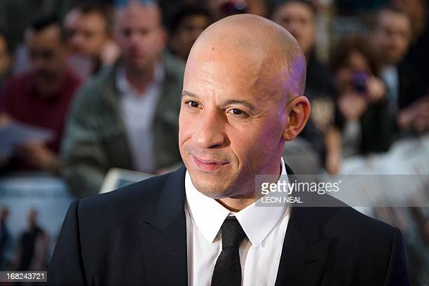 US actor Vin Diesel arrives at the world premiere of 'Fast and Furious 6' at the Empire cinema in Leicester Square in central London on May 7 2013...