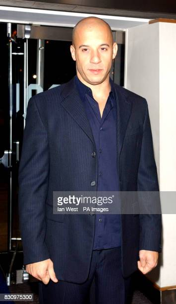 Actor Vin Diesel arriving for the gala premiere of his new film xXx at the Odeon Leicester Square cinema, London.