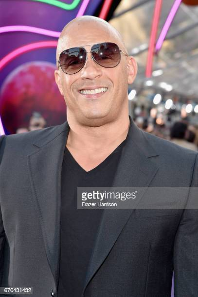 Actor Vin Diesel at the premiere of Disney and Marvel's 'Guardians Of The Galaxy Vol 2' at Dolby Theatre on April 19 2017 in Hollywood California