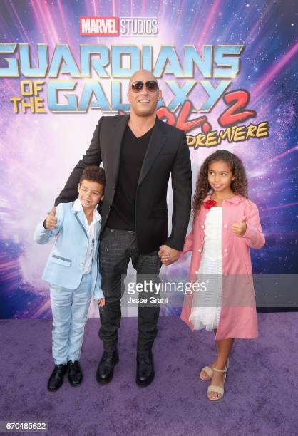 """Actor Vin Diesel at The World Premiere of Marvel Studios' """"Guardians of the Galaxy Vol 2"""" at Dolby Theatre in Hollywood CA April 19th 2017"""