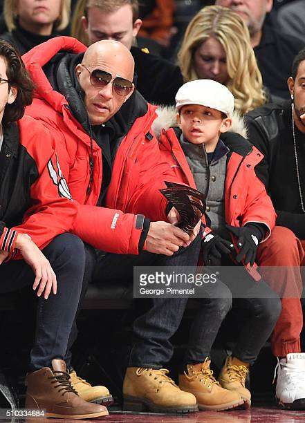 Actor Vin Diesel attends the 2016 NBA AllStar Game at Air Canada Centre on February 14 2016 in Toronto Canada