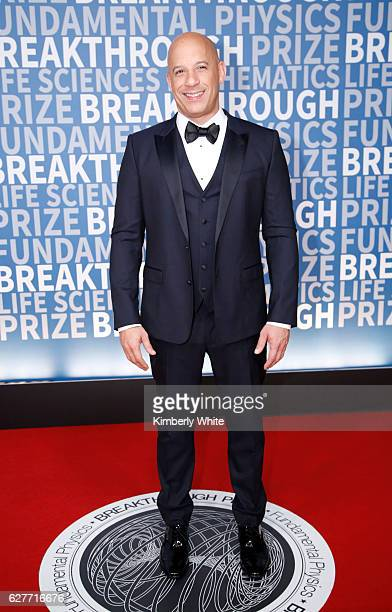 Actor Vin Diesel attends the 2017 Breakthrough Prize at NASA Ames Research Center on December 4 2016 in Mountain View California