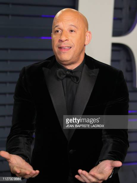 Actor Vin Diesel attends the 2019 Vanity Fair Oscar Party following the 91st Academy Awards at The Wallis Annenberg Center for the Performing Arts in...