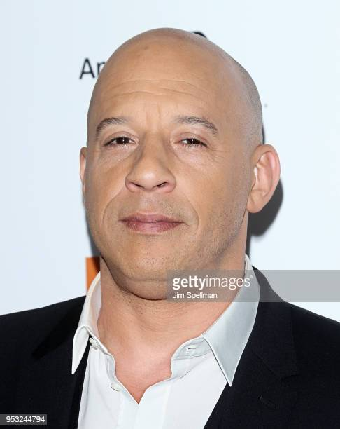 Actor Vin Diesel attends the 45th Chaplin Award Gala honoring Helen Mirren at Alice Tully Hall on April 30 2018 in New York City