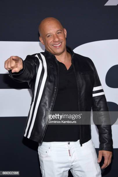 Actor Vin Diesel attends The Fate Of The Furious New York Premiere at Radio City Music Hall on April 8 2017 in New York City