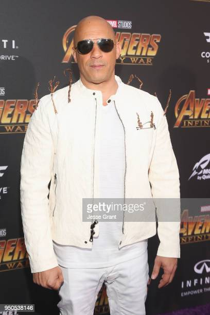Actor Vin Diesel attends the Los Angeles Global Premiere for Marvel Studios' Avengers Infinity War on April 23 2018 in Hollywood California