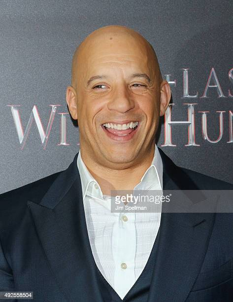 Actor Vin Diesel attends the 'The Last Witch Hunter' New York premiere at AMC Loews Lincoln Square on October 13 2015 in New York City