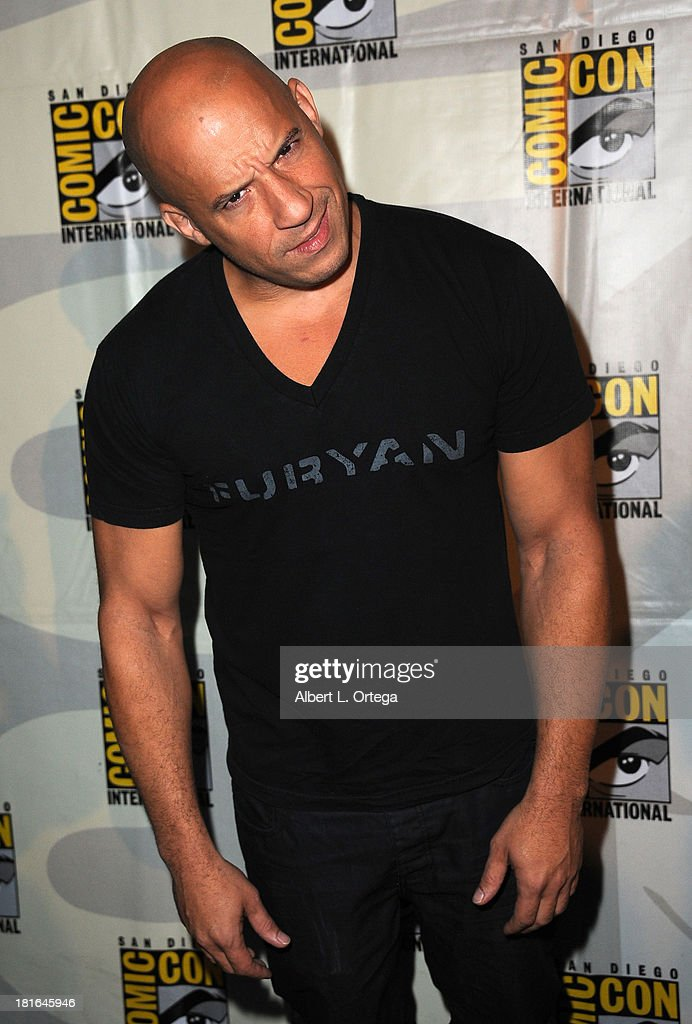 Actor Vin Diesel attends The Universal Pictures panel featuring 'Riddick' as part of Comic-Con International 2013 held at San Diego Convention Center on Friday July 19, 2013 in San Diego, California.