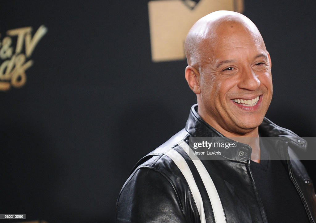 Actor Vin Diesel poses in the press room at the 2017 MTV Movie and TV Awards at The Shrine Auditorium on May 7, 2017 in Los Angeles, California.