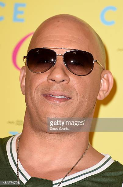 Actor Vin Diesel winner of the Choice Movie Action Award for Furious 7 poses in the press room during the Teen Choice Awards 2015 at the USC Galen...