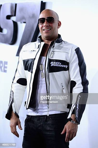 Actor Vin Dieselarrives at the Premiere Of Universal Pictures' 'Furious 7' at TCL Chinese Theatre on April 1 2015 in Hollywood California