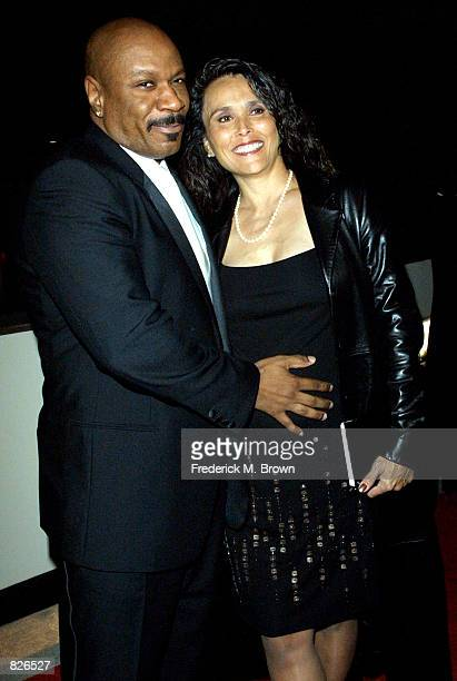 Actor Vin Rhames and his wife Debra attend the Ninth Annual Diversity Awards November 17 2001 in Los Angeles CA The awards honor diverse...