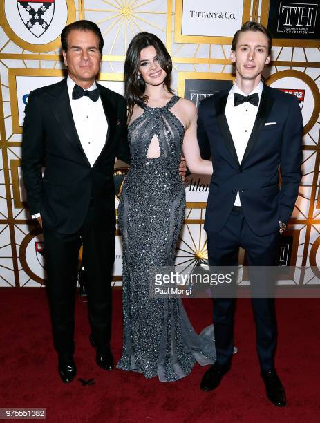 Actor Vince DePaul producer Samson Day and actress Caroline Day attend the Harvard Business School Club's 3rd Annual Leadership Gala Dinner at the...