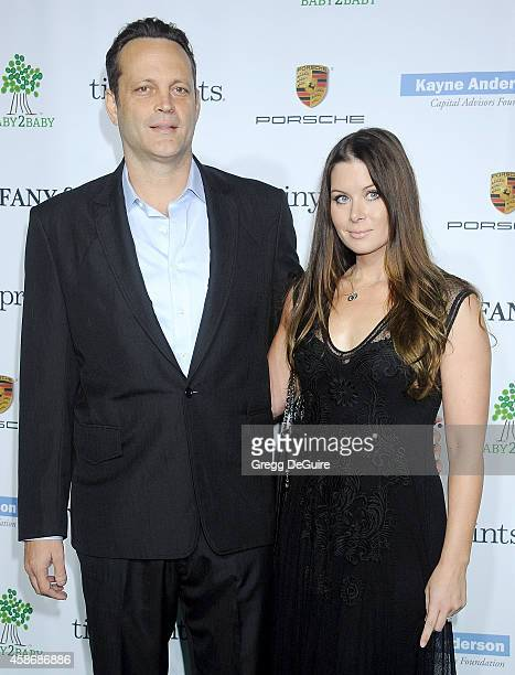 Actor Vince Vaughn and Kyla Weber arrive at the 2014 Baby2Baby Gala presented by Tiffany Co honoring Kate Hudson at The Book Bindery on November 8...