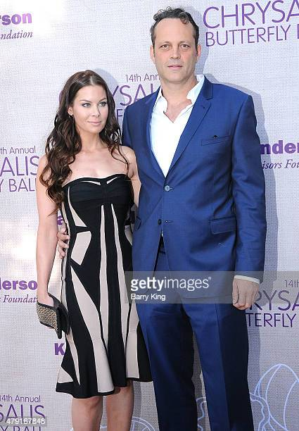 Actor Vince Vaughn and Kyla Weber attend the 14th annual Chrysalis Butterfly Ball sponsored by Audi Kayne Anderson Lauren B Beauty and Z Gallerie on...