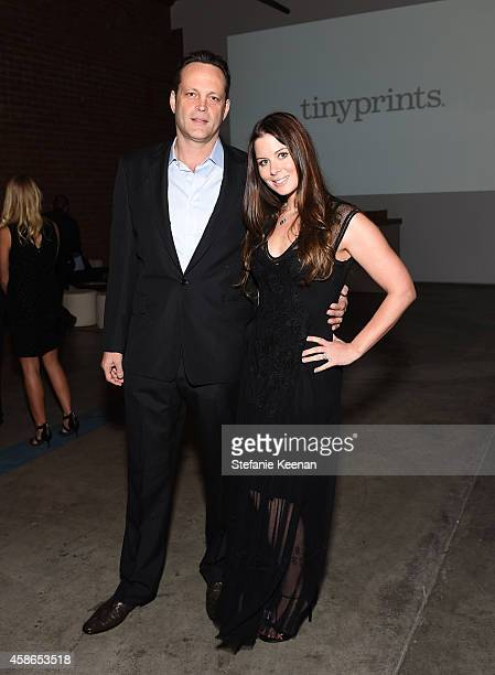 Actor Vince Vaughn and Kyla Weber attend the 2014 Baby2Baby Gala presented by Tiffany Co on November 8 2014 in Culver City California