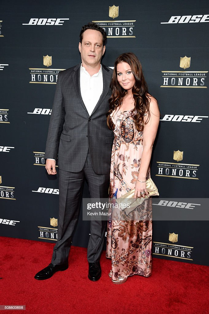 Actor Vince Vaughn and Kyla Weber attend the 5th annual NFL Honors at Bill Graham Civic Auditorium on February 6, 2016 in San Francisco, California.