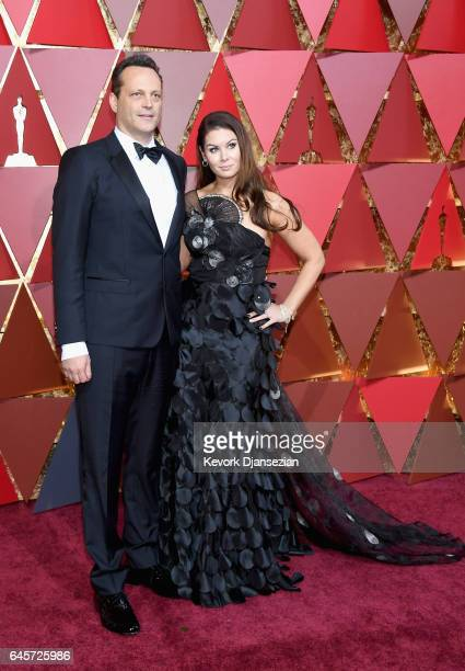 Actor Vince Vaughn and Kyla Weber attend the 89th Annual Academy Awards at Hollywood Highland Center on February 26 2017 in Hollywood California