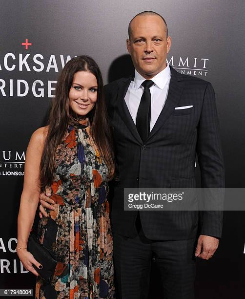 Actor Vince Vaughn and wife Kyla Weber arrive at the screening of Summit Entertainment's 'Hacksaw Ridge' at Samuel Goldwyn Theater on October 24 2016...