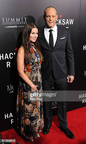 Actor Vince Vaughn and wife Kyla Weber attend screening of Summit Entertainment's 'Hacksaw Ridge' at Samuel Goldwyn Theater on October 24 2016 in...
