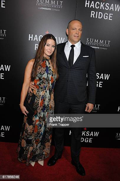 Actor Vince Vaughn and wife Kyla Weber attend the screening of Summit Entertainment's Hacksaw Ridge held at the Samuel Goldwyn Theater on October 24...