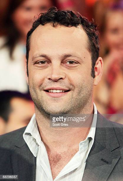 Actor Vince Vaughn appears onstage during MTV's Total Request Live at the MTV Times Square Studios July 14 2005 in New York City