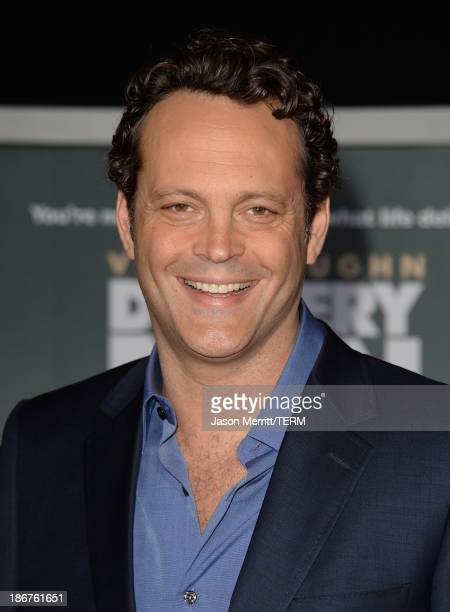 Actor Vince Vaughn arrives at the Los Angeles Premiere 'Delivery Man' at the El Capitan Theatre on November 3 2013 in Hollywood California