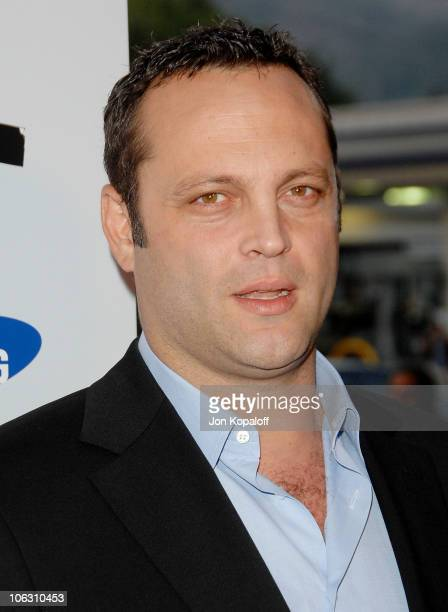 Actor Vince Vaughn arrives at the Los Angeles Premiere Into The Wild at the Directors Guild of America on September 18 2007 in West Hollywood...