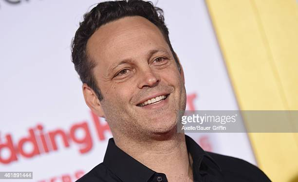 Actor Vince Vaughn arrives at the premiere of 'The Wedding Ringer' at TCL Chinese Theatre on January 6 2015 in Hollywood California