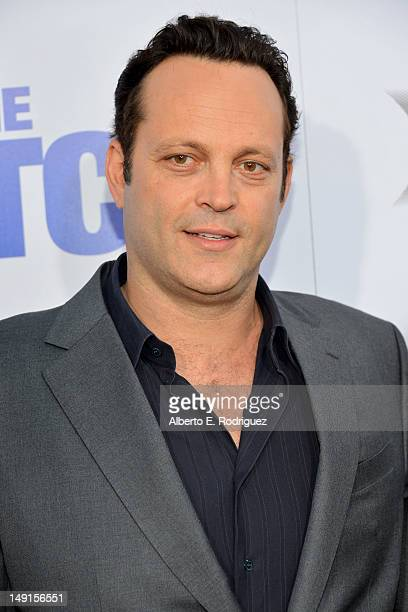 """Actor Vince Vaughn arrives at the premiere of Twentieth Century Fox's """"The Watch"""" at Grauman's Chinese Theatre on July 23, 2012 in Hollywood,..."""