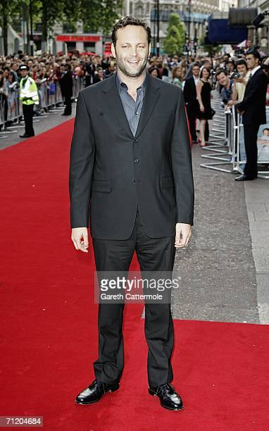 Actor Vince Vaughn arrives at the UK premiere of 'The Break-up' at the Vue West End, on June 14 in London, England.