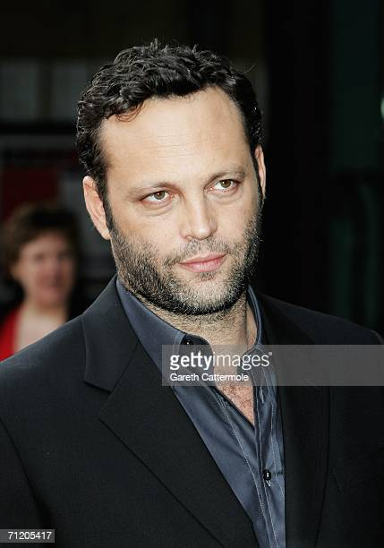 Actor Vince Vaughn arrives at the UK premiere of 'The Breakup' at the Vue West End on June 14 in London England