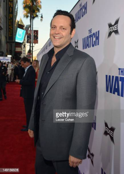 Actor Vince Vaughn arrives at The Watch Los Angeles Premiere at Grauman's Chinese Theatre on July 23 2012 in Hollywood California