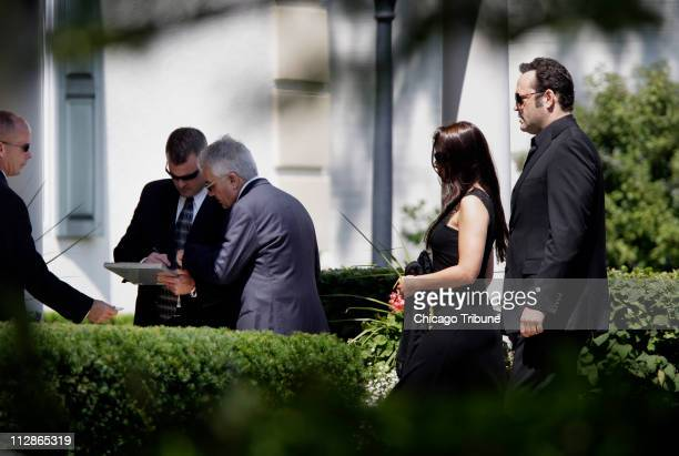 Actor Vince Vaughn arrives for the funeral service of filmmaker John Hughes in Lake Forest Illinois Tuesday August 11 2009 Hughes the Breakfast...