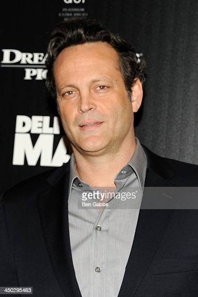 Actor Vince Vaughn attends DreamWorks Pictures The Cinema Society host a screening of 'Delivery Man' at the Paley Center For Media on November 17...