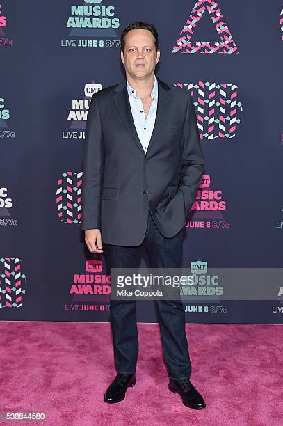 Actor Vince Vaughn attends the 2016 CMT Music awards at the Bridgestone Arena on June 8 2016 in Nashville Tennessee