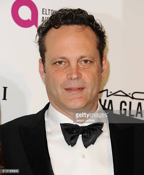 Actor Vince Vaughn attends the 24th annual Elton John AIDS Foundation's Oscar viewing party on February 28 2016 in West Hollywood California