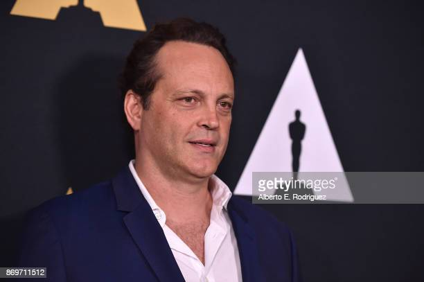 Actor Vince Vaughn attends the Academy Nicholl Fellowships In Screenwriting Awards Presentation And Live Read at Samuel Goldwyn Theater on November 2...