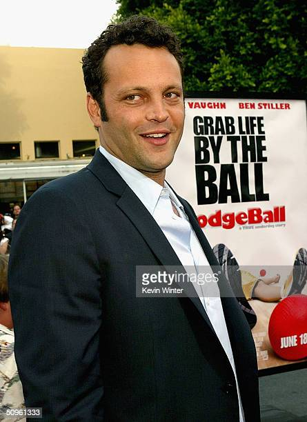 Actor Vince Vaughn attends the world premiere of the Twentieth Century Fox film 'Dodgeball' at the Mann Village Theater June 14 2004 in Westwood...