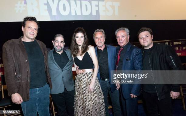 Actor Vince Vaughn Director S Craig Zahler and Actors Jennifer Carpenter Don Johnson Udo Kier and Producer Jack Heller attend the panel discussion...