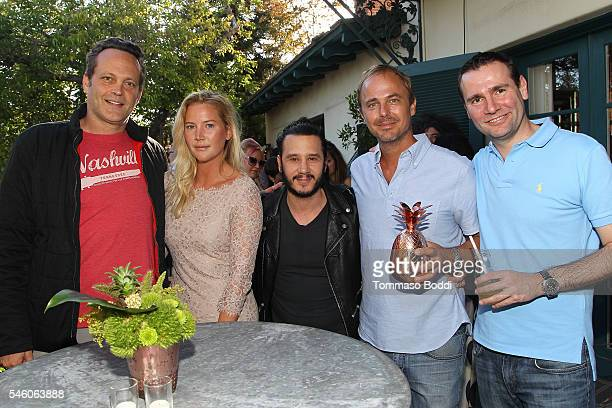 Actor Vince Vaughn Janina Boss Tahlin producer Andrew Panay Absolut Elyx CEO Jonas Tahlin and Chairman CEO at Pernod Ricard Alexandre Ricard attend...