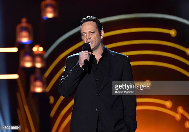 Actor Vince Vaughn speaks onstage during the 2014 American Country Countdown Awards at Music City Center on December 15 2014 in Nashville Tennessee