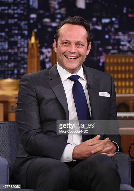 """Actor Vince Vaughn visits """"The Tonight Show Starring Jimmy Fallon""""at Rockefeller Center on June 19, 2015 in New York City."""