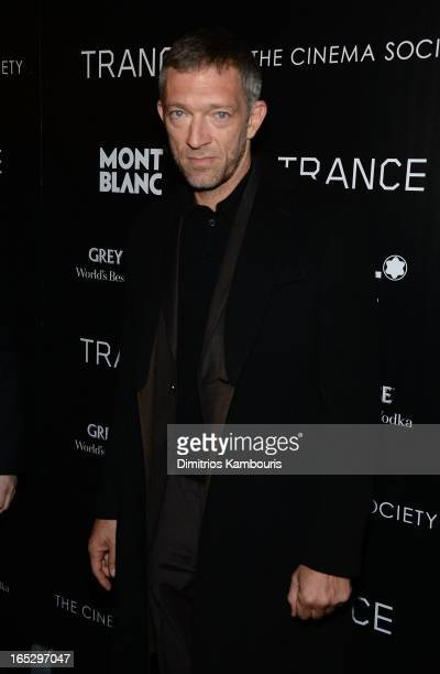 Actor Vincent Cassel attends Fox Searchlight Pictures' premiere of Trance hosted by the Cinema Society Montblanc at SVA Theater on April 2 2013 in...