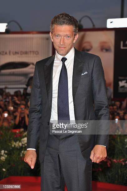 """Actor Vincent Cassel attends the """"A Dangerous Method"""" premiere during the 68th Venice Film Festivalat Palazzo del Cinema on September 2, 2011 in..."""