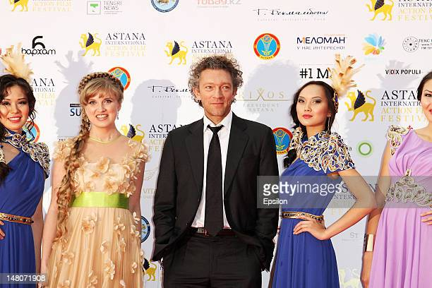 Actor Vincent Cassel attends the opening ceremony of the Astana International Action Film festival 2012 on July 02 2012 in Astana Kazakhstan