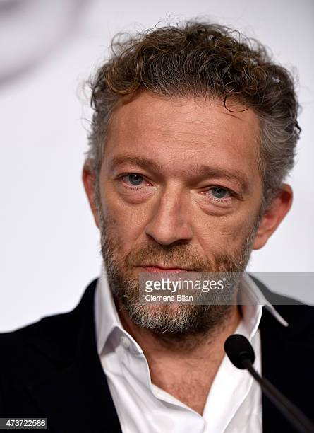 Actor Vincent Cassel attends the press conference for 'Mon roi' during the 68th annual Cannes Film Festival on May 17 2015 in Cannes France