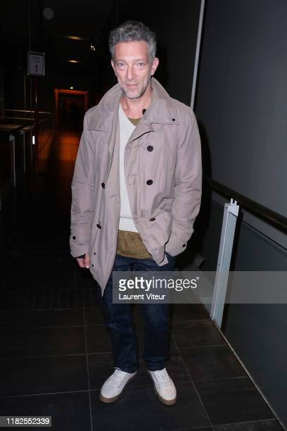 """Actor Vincent Cassel attends the """"Serendipity"""" premiere at MK2 Bibliotheque on October 21, 2019 in Paris, France."""