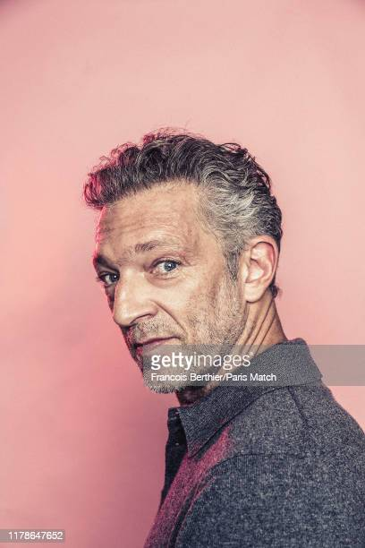 Actor Vincent Cassel is photographed for Paris Match in Paris on October 11, 2019.